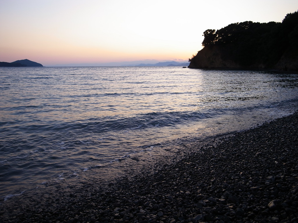 伊勢の夕日