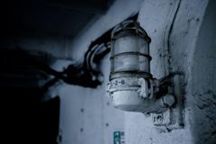 ランプ@氷川丸 船内廊下