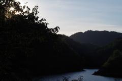 日没の有田ダム