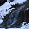手取川渓谷に積もる雪
