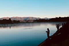 早朝の釣り人達