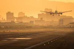 伊丹空港の朝