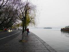 西湖の朝8