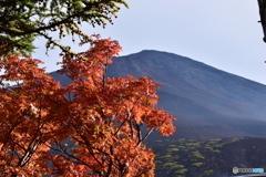 富士山五合目の紅葉2017年10月8日