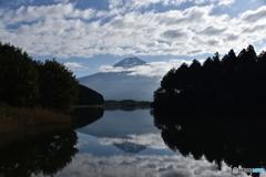 田貫湖の朝(2017年10月8日)