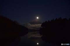 田貫湖のダブルパール富士