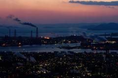水島 工場夜景 2018.2 #1