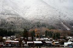 平野部に初雪