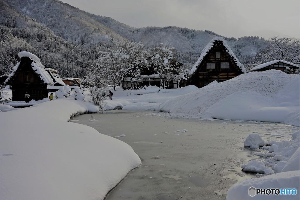白川郷冬景色2