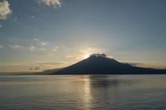 桜島と日の出