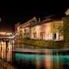 小樽運河に青い輝き✨