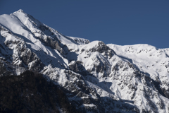 初冬の笠ヶ岳、仰ぐ頂