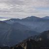 笠ヶ岳からの遠望 焼岳、乗鞍岳、御嶽山
