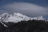 穂高岳、冠雪の峰々