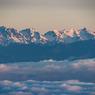 遠望 雲海に浮かぶ 穂高岳 槍ヶ岳