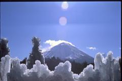 樹氷と富士山 2002年1月
