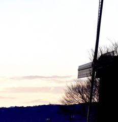 夕刻の風車