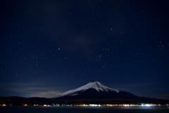 満天の星空と富士山