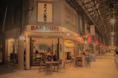 名古屋の夜 アーケード街のバル