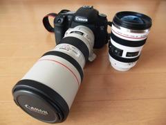 Canon7Dと白レンズと
