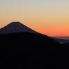 南アルプス茶臼岳-上河内岳~シルエット富士~