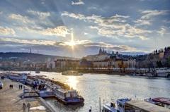 プラハの夕日