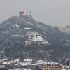 青島の雪景色