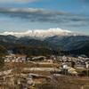 乗鞍岳の見える村