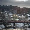 雪の高山中橋
