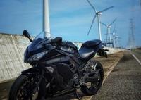 風車とバイク