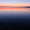 ウトナイ湖のブルーアワー