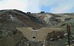 阿蘇山火口周辺。