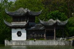 中国庭園。