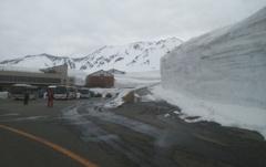 雪の大谷。