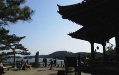 震災後の松島の五大堂。
