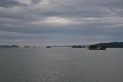 曇天の松島。