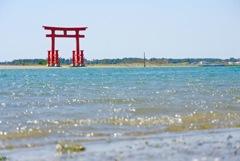 浜名湖と鳥居