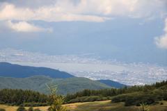 入笠山山頂からの諏訪湖