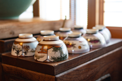 喫茶店の茶碗