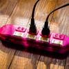 ピンクの延長コード