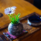 喫茶店の花