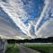 ビニールハウスと雲