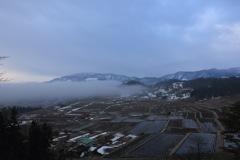 棚田の朝霧