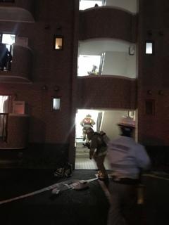 我が家のマンションの上の階火災