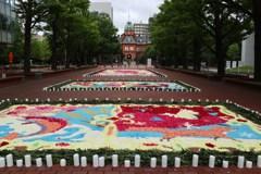 花のイベント フラワーカーペット1