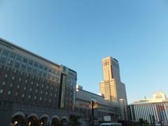 夕映えのJRタワー