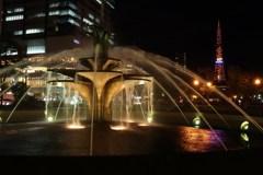 ライトアップ噴水