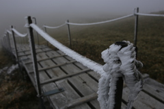 氷のロープ 剣山山頂