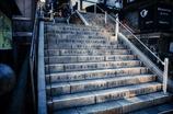 刻まれた階段。