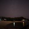 砂浜と星空